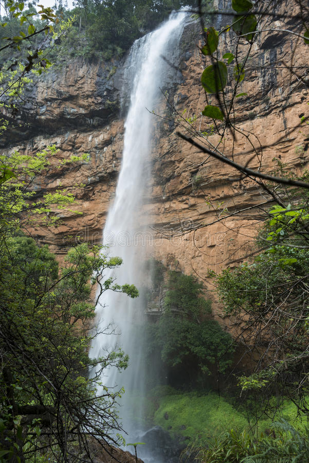 Cascada de la caída del velo de Bridel cerca del sabie en Suráfrica fotografía de archivo libre de regalías