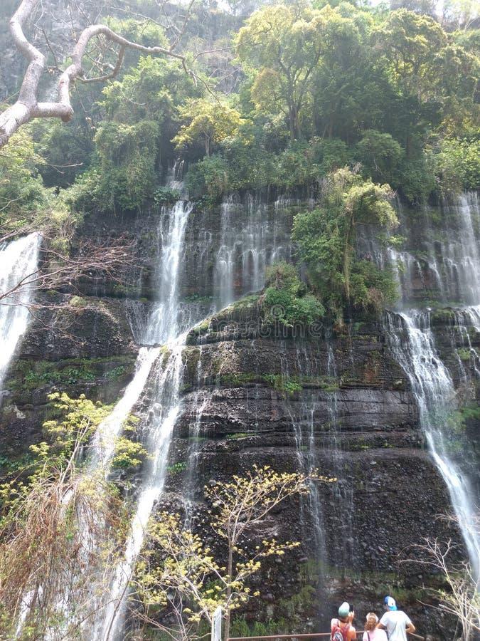 Cascada de los Chorros del Baral stock photo