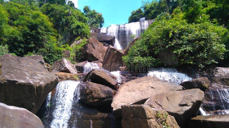 Cascada de Olu Ella en Sri Lanka imagen de archivo libre de regalías