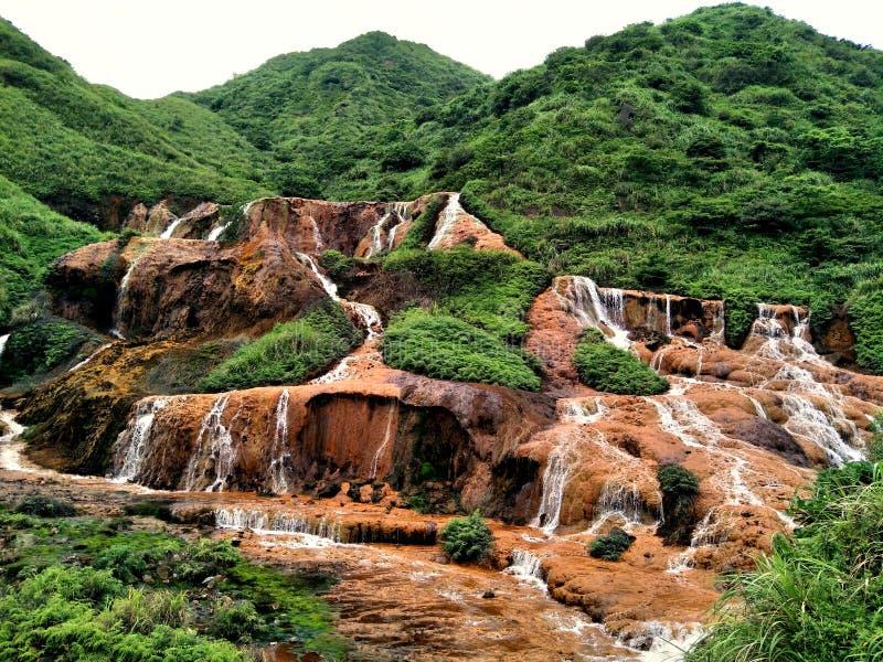 Cascada de oro Taiwán imagen de archivo libre de regalías