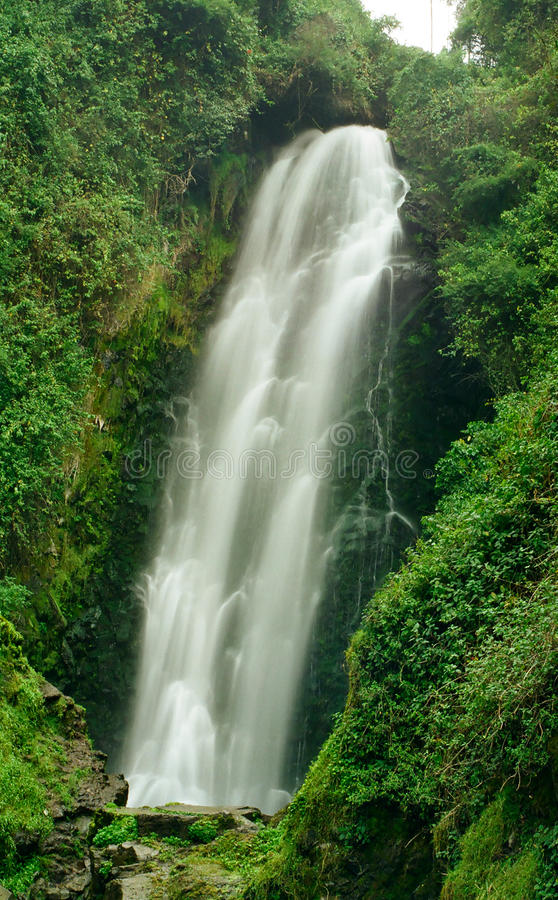 Cascada de Peguche Waterfall, Equateur images libres de droits