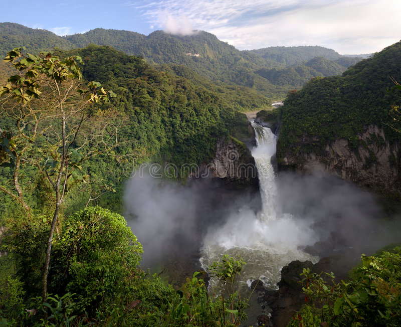 Cascada de San Rafael foto de archivo