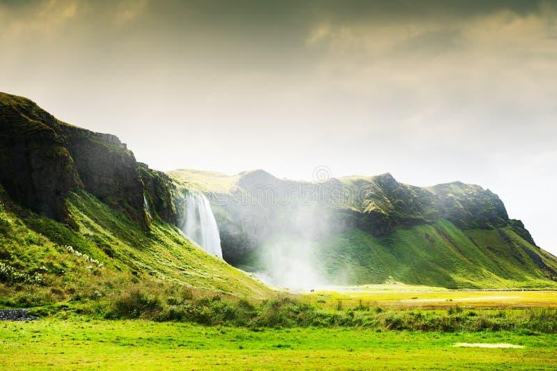 Cascada de Seljalandsfoss en Islandia fotografía de archivo libre de regalías