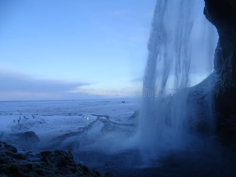 Cascada de Seljalandsfoss, Islandia foto de archivo