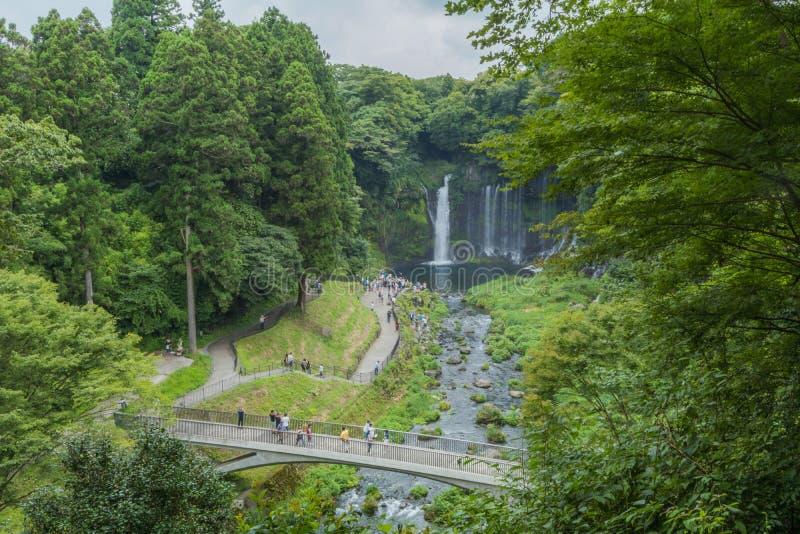 Cascada de Shiraito cerca del Mt Fuji en la prefectura de Fujinomiya, Jap imagenes de archivo