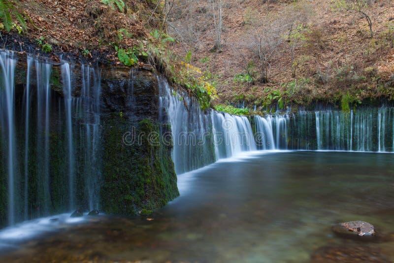 Cascada de Shiraito en la estación del otoño imagen de archivo libre de regalías