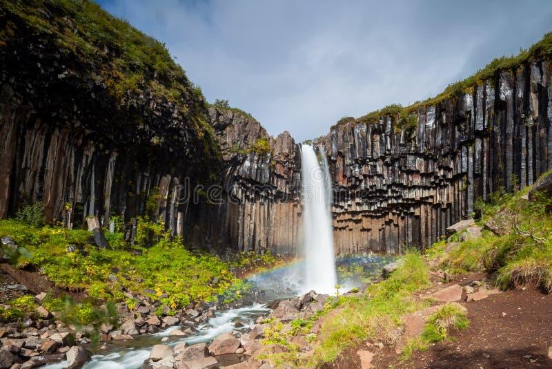 Cascada de Svartifoss imagen de archivo libre de regalías