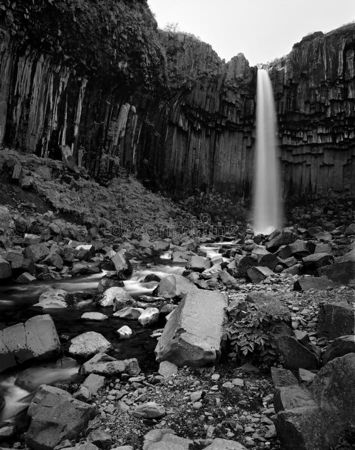 Cascada de Svartifoss imágenes de archivo libres de regalías