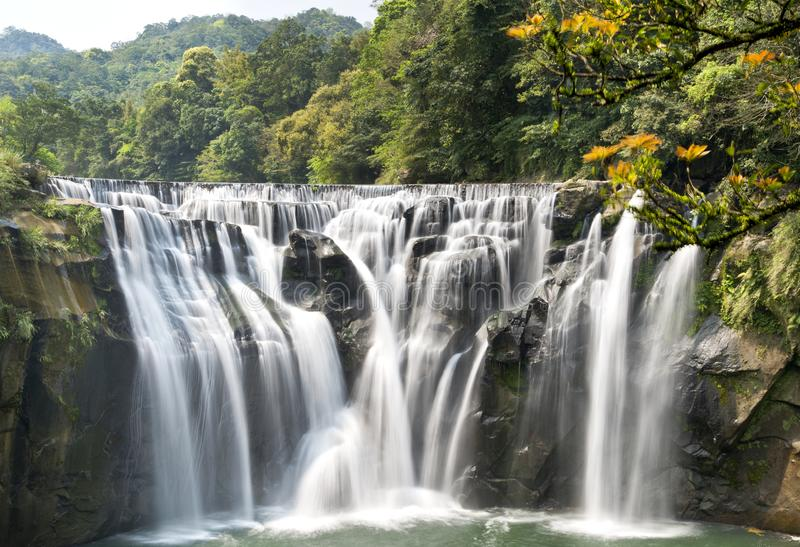 Cascada de Taiwán Shifen fotografía de archivo