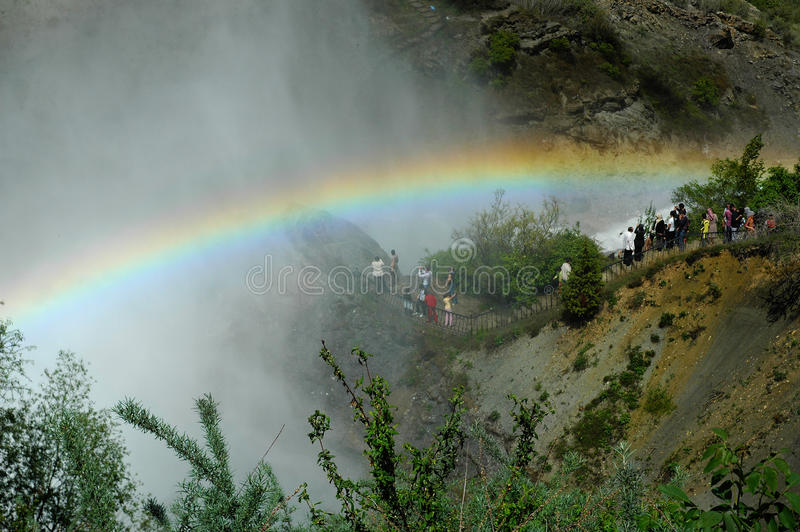Cascada de Tortum, Erzurum, Turquía imagen de archivo