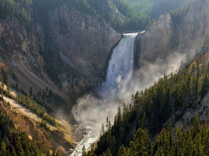 Cascada de Yellowstone Wyoming, los E fotografía de archivo