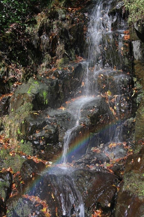 Cascada del arco iris imagenes de archivo