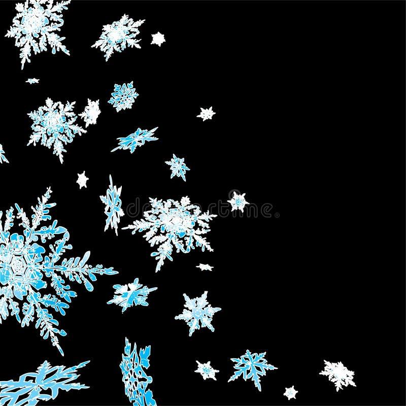 Cascada del copo de nieve stock de ilustración