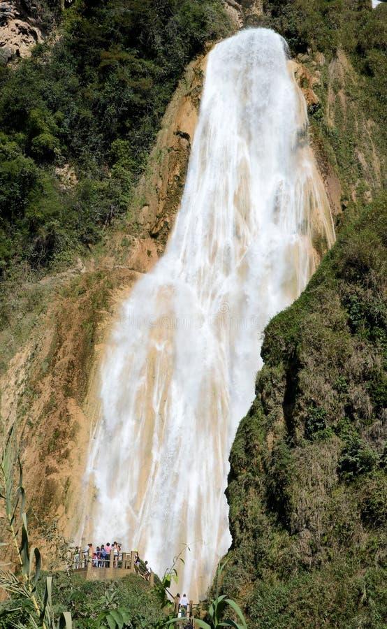 Cascada del EL Chiflon foto de archivo