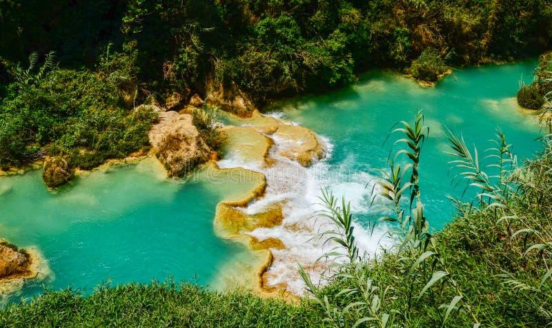 Cascada del EL Chiflon, Chiapas, México, el 21 de mayo fotografía de archivo libre de regalías