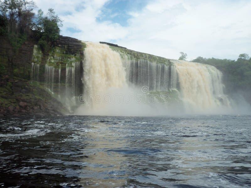 Cascada del EL Hacha, parque nacional de Canaima, estado de BolÃvar, Venezuela fotos de archivo