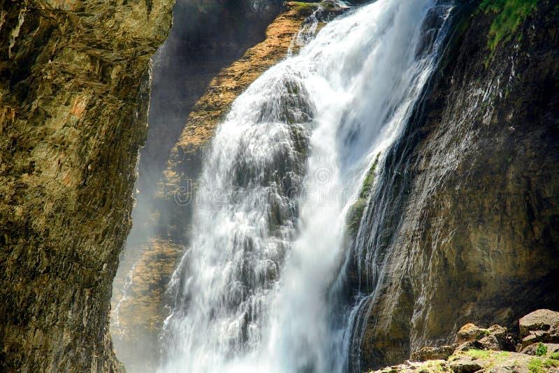 Cascada del Estrecho στο εθνικό πάρκο Ordesa στοκ φωτογραφίες