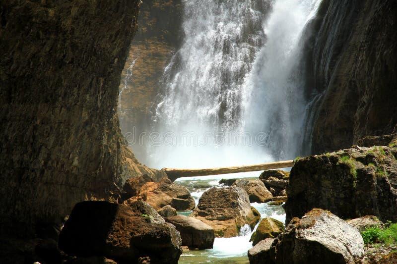 Cascada del Estrecho στο εθνικό πάρκο Ordesa στοκ εικόνες