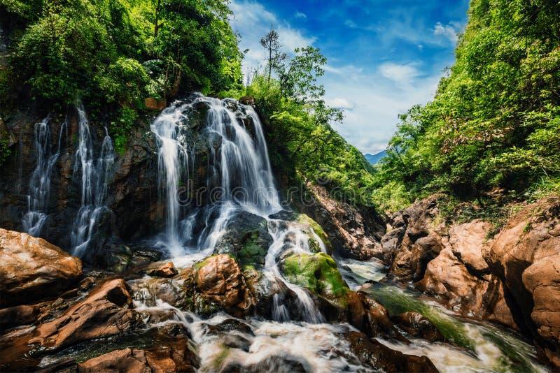 Cascada del Gato-gato, Vietnam foto de archivo libre de regalías