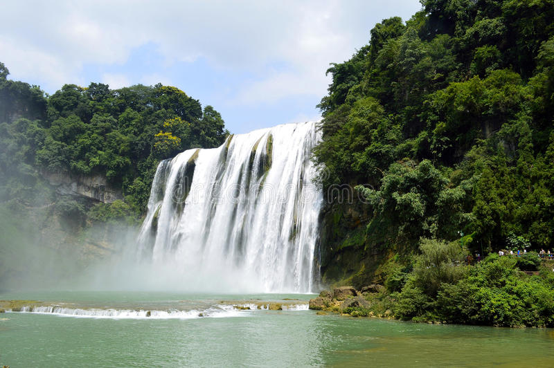 Cascada del huangguoshu de China Guizhou foto de archivo