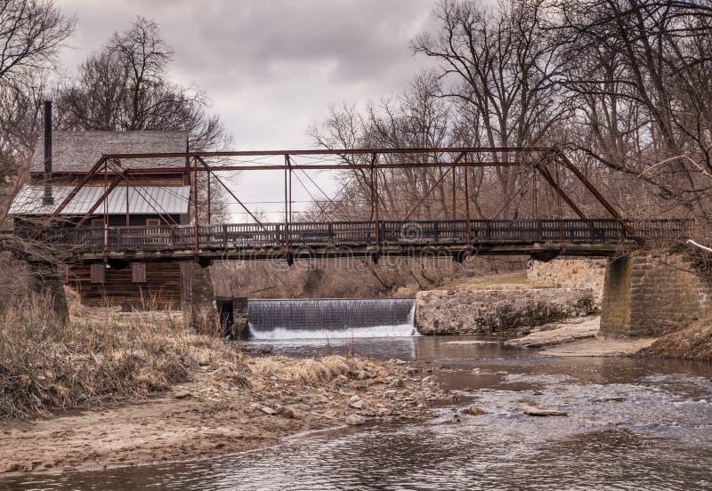 Cascada del molino de Iowa fotos de archivo libres de regalías
