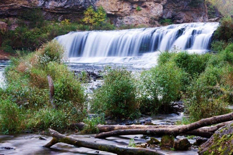 Cascada del parque de estado del río del sauce fotos de archivo