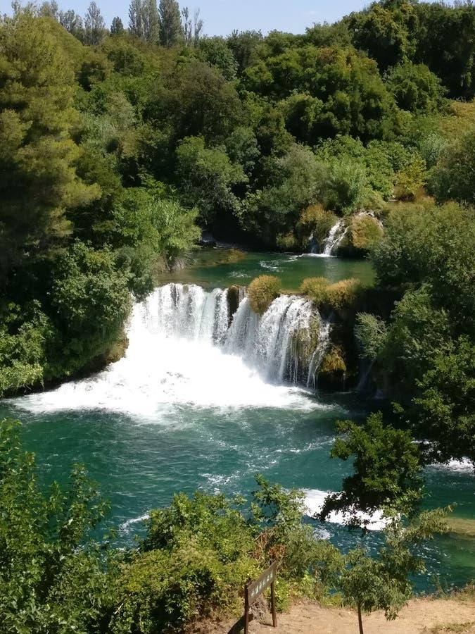 Cascada del parque nacional de Krka imagen de archivo