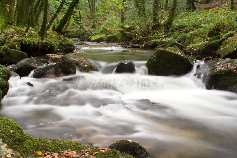 Cascada del río imagen de archivo