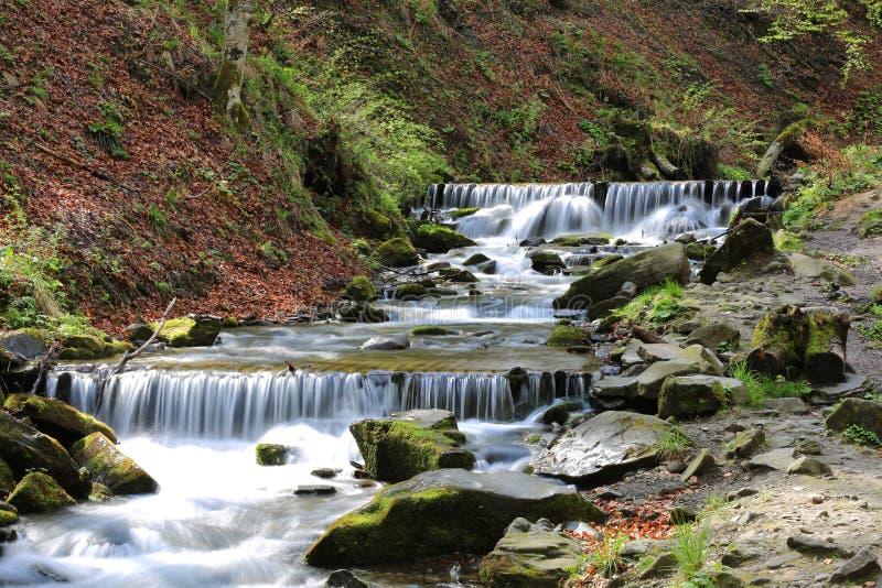 Cascada del río de la montaña foto de archivo libre de regalías