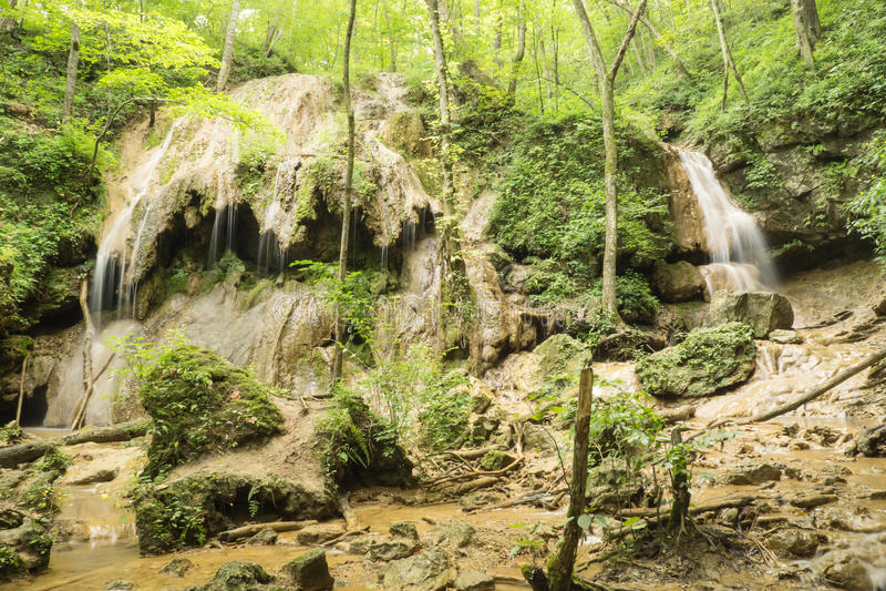 Cascada del travertino foto de archivo