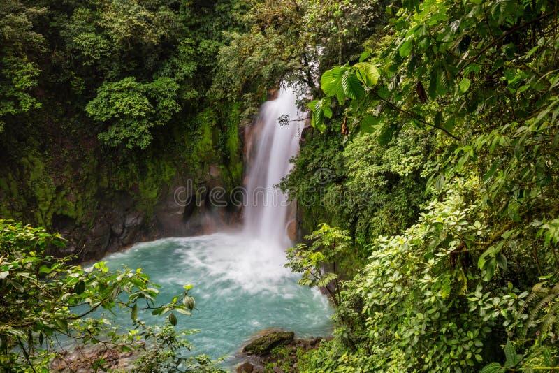 Cascada en Costa Rica fotos de archivo