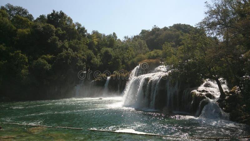 Cascada en Croacia, parque nacional Krka imágenes de archivo libres de regalías