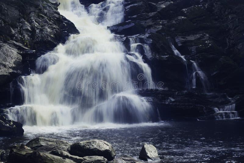 Cascada en el parque de estado de Wachonah foto de archivo libre de regalías
