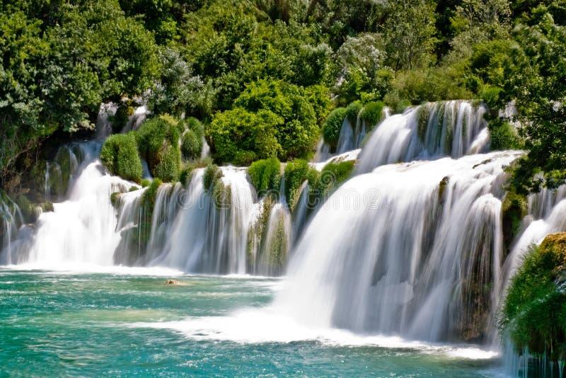 Cascada en el parque nacional de Krka en Croatia fotos de archivo libres de regalías