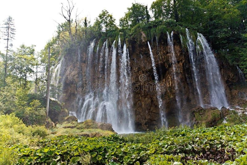 Cascada en el parque nacional de Plitvicke fotografía de archivo