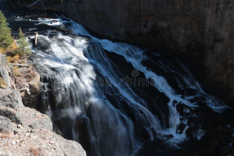 Cascada en el parque nacional de Yellowstone fotografía de archivo