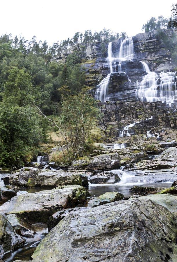 Cascada en el sur de Noruega imágenes de archivo libres de regalías