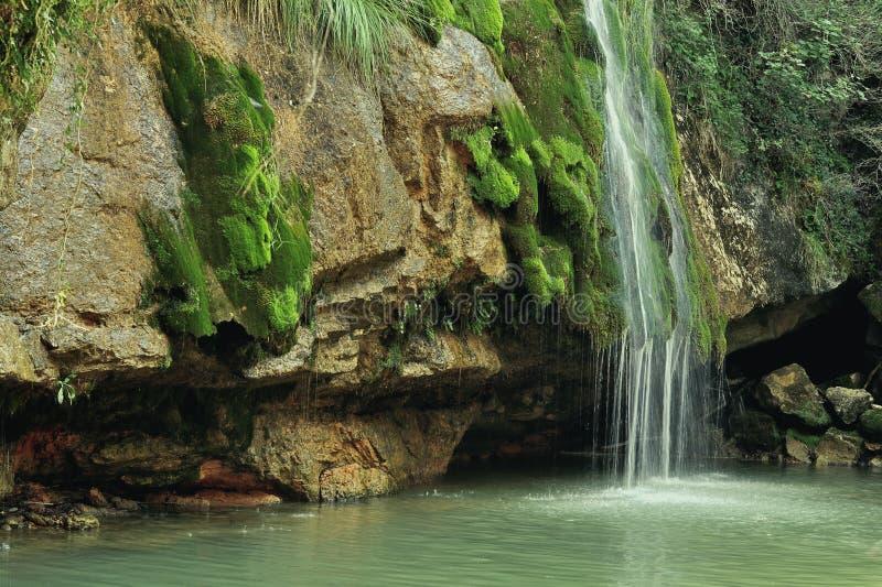 Cascada en España, Campdevanol/Ripoll imagen de archivo libre de regalías