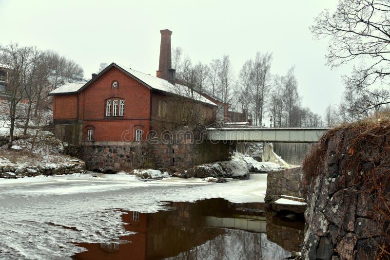 Cascada en Finlandia imagen de archivo