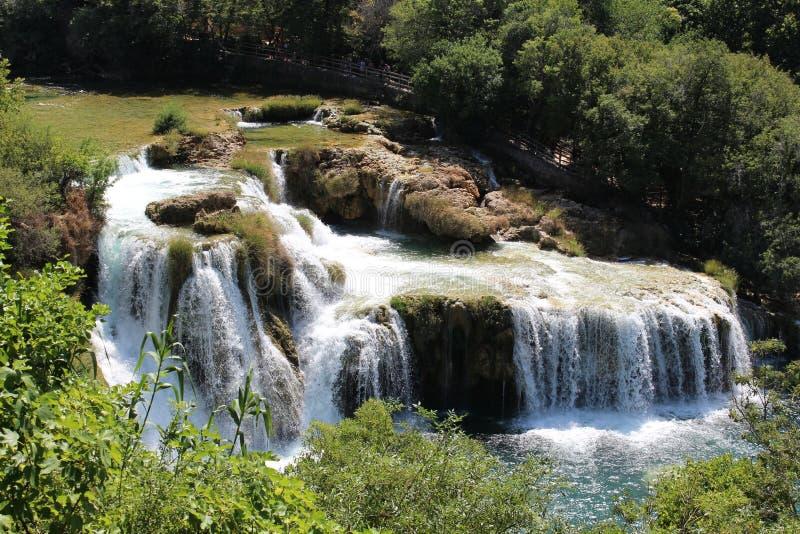 Cascada en Krka Croacia imágenes de archivo libres de regalías