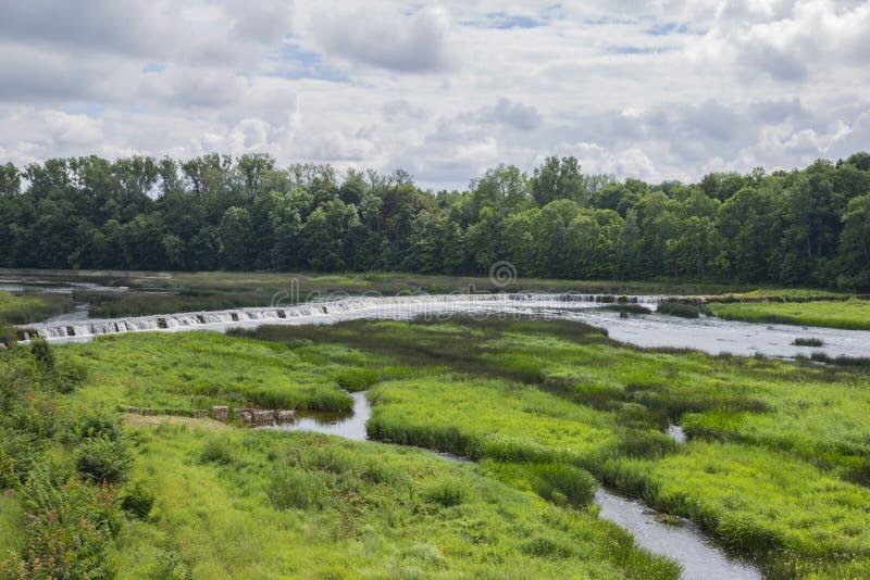 Cascada en Kuldiga, Letonia fotos de archivo libres de regalías
