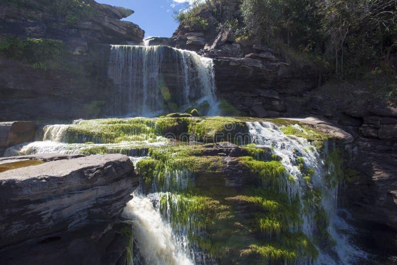 Cascada en la laguna de Canaima, Venezuela fotografía de archivo libre de regalías