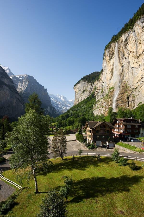 Cascada en Lauterbrunnen foto de archivo libre de regalías