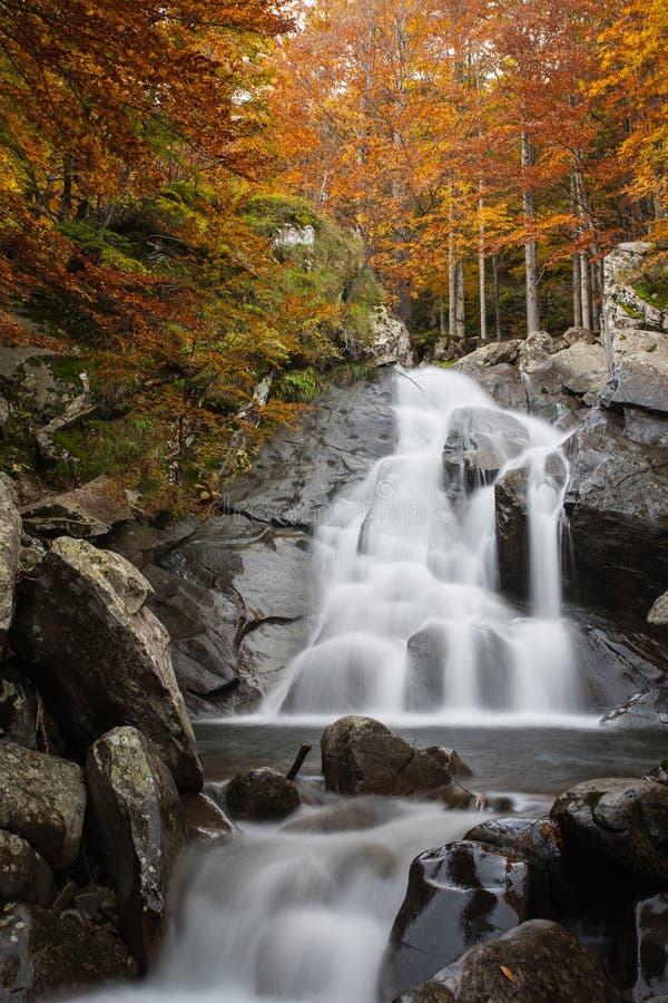 Cascada en otoño imagen de archivo