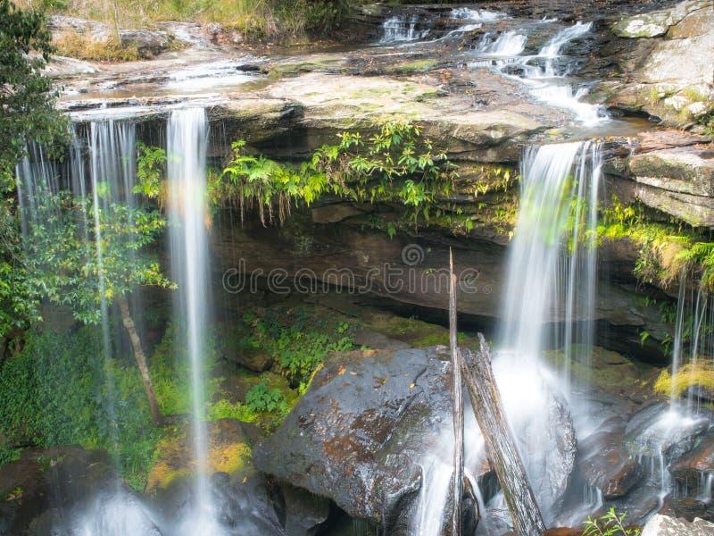 Cascada en phukadeng foto de archivo