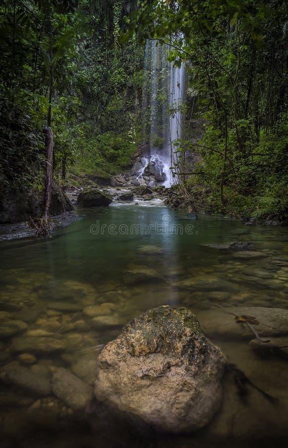 Cascada en Puerto Rico imagen de archivo libre de regalías