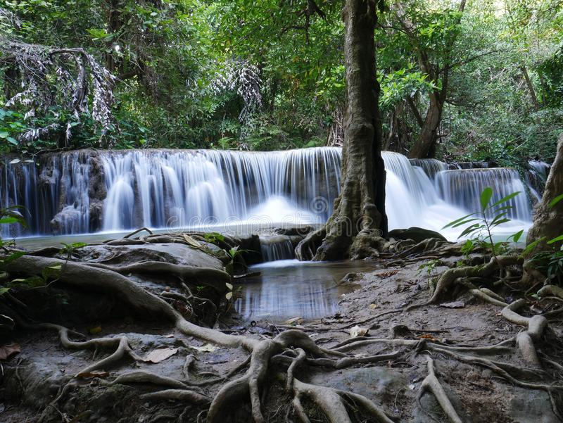 Cascada en Tailandia Naturaleza de la opinión del paisaje foto de archivo