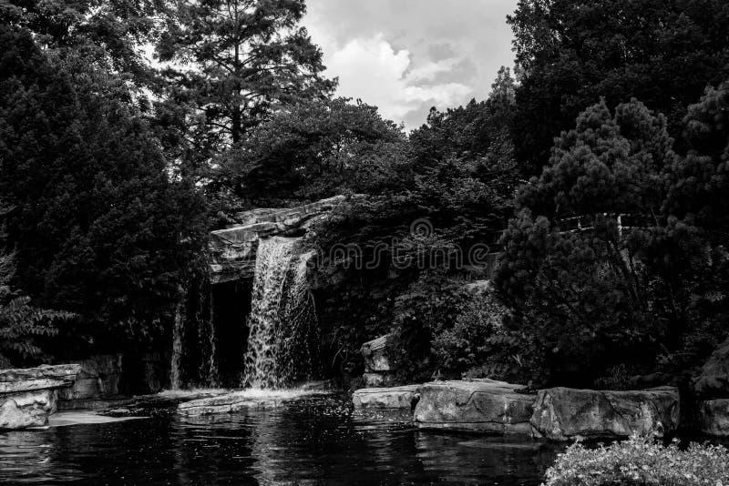 Cascada en un parque zoológico fotografía de archivo
