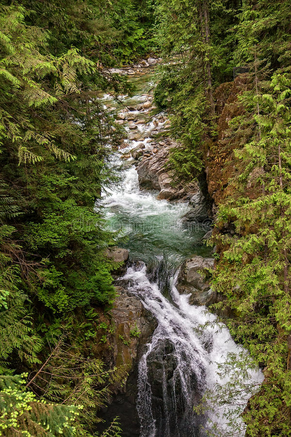 Cascada en Vancouver foto de archivo