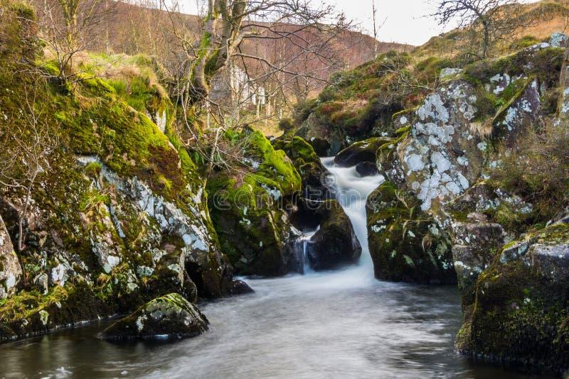 Cascada en Watendlath el Tarn fotos de archivo libres de regalías